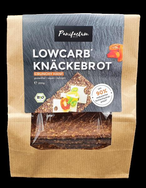 Lowcarb Knäckebrot Crunchy Hanf 200g