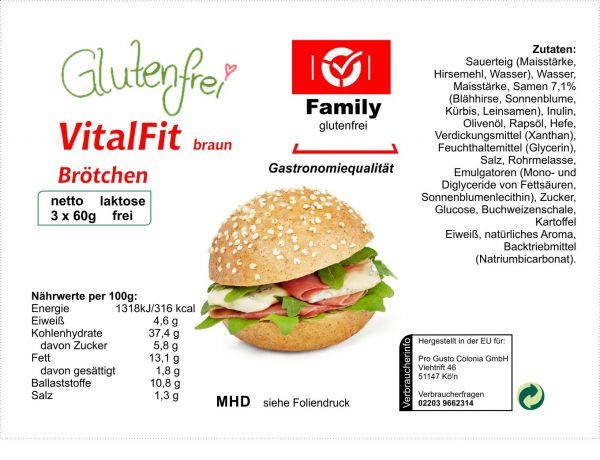 Family Vitalfit Braun Vegan 3x60g
