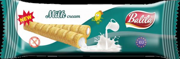 Maisröllchen mit Milchcreme