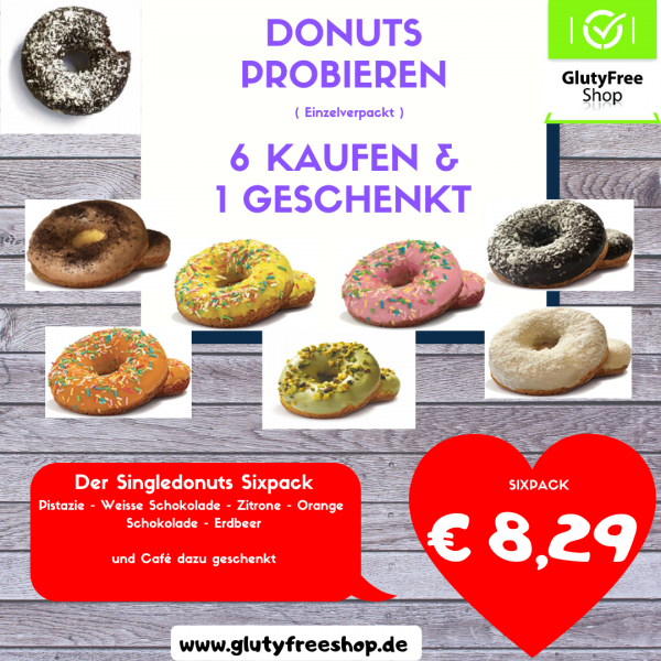 Donut Sixpack Einzelpack