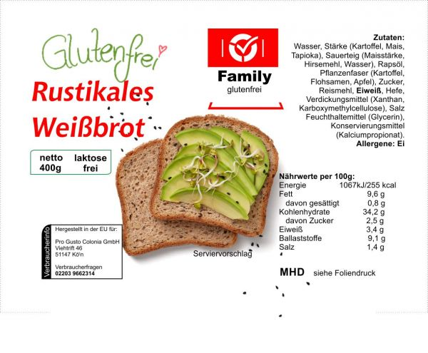Family Rustikales Weißbrot 400g lang