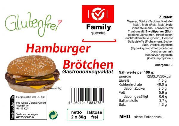 Family Hamburger Brötchen gf