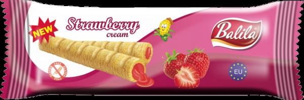 Maisröllchen mit Erdbeercreme