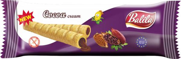 Maisröllchen mit Kakaocreme