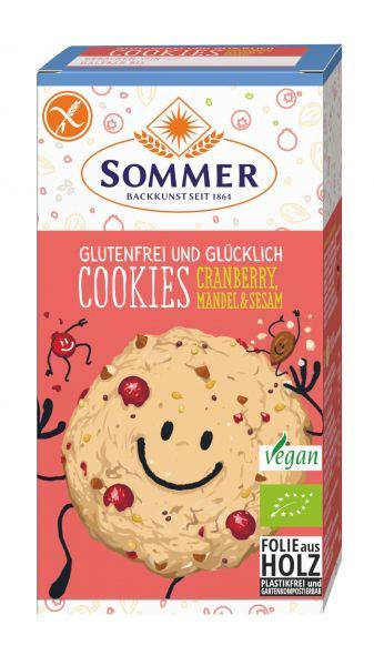 Cookies Cranberry, Mandel & Sesam 125g BIO