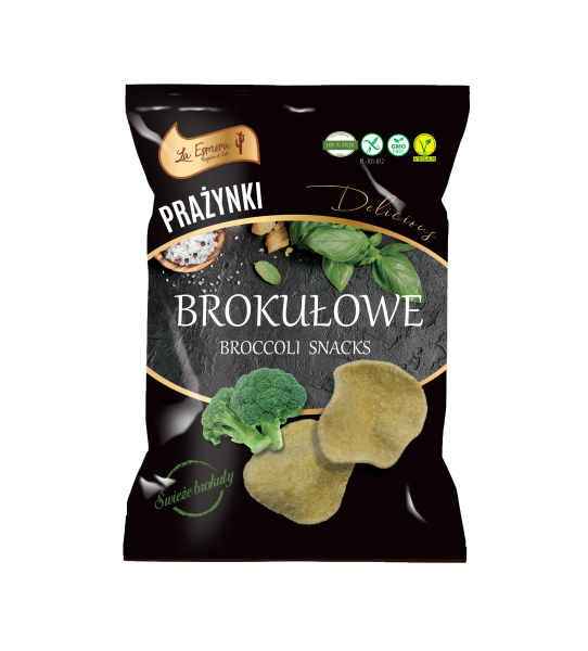 Brokkoli-Snack mit Meersalz