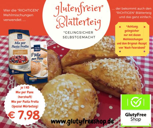 glutenfreie Blätterteigmehlmixe