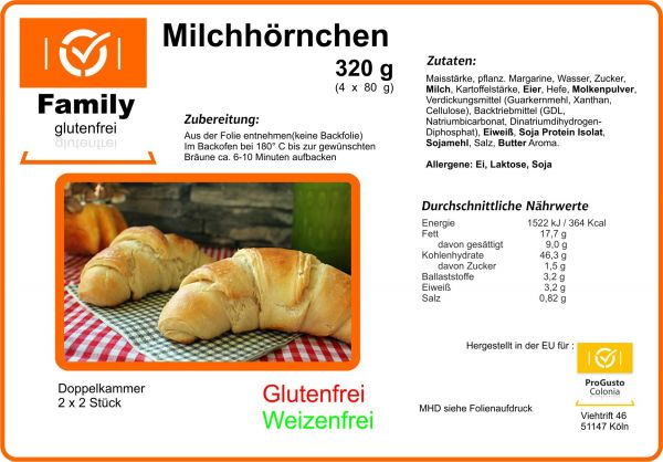 Family Croissant gf 4Stck á 80g