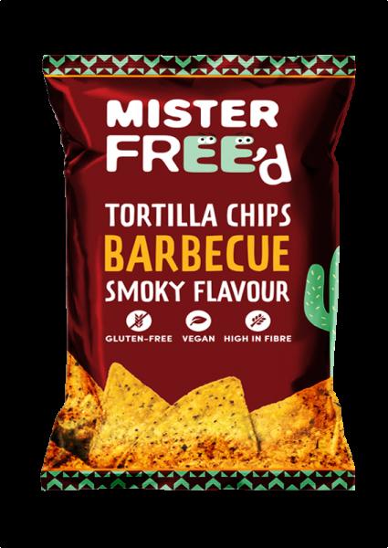 Mais-Tortilla-Chips mit BBQ Geschmack